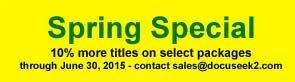 Spring 2015 Special