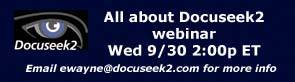 Docuseek2 webinar September 30